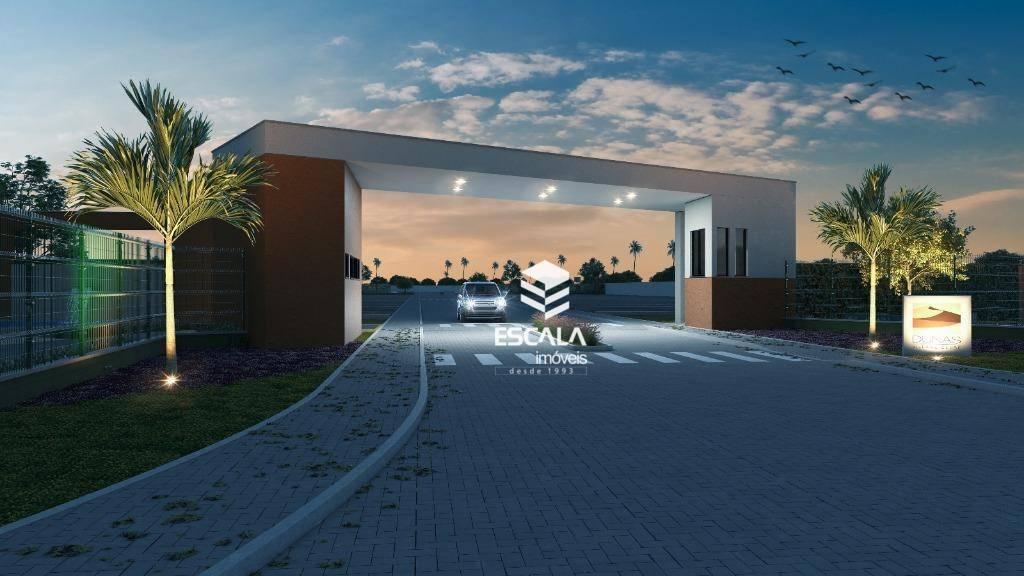 Lote à venda, Dunas Village, 176 m², condomínio fechado, área de lazer, financia - Prainha - Aquiraz/CE