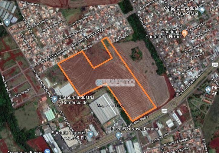 Área à venda no Contorno Norte de Ibiporã, 156936 m² por R$ 18.715.000