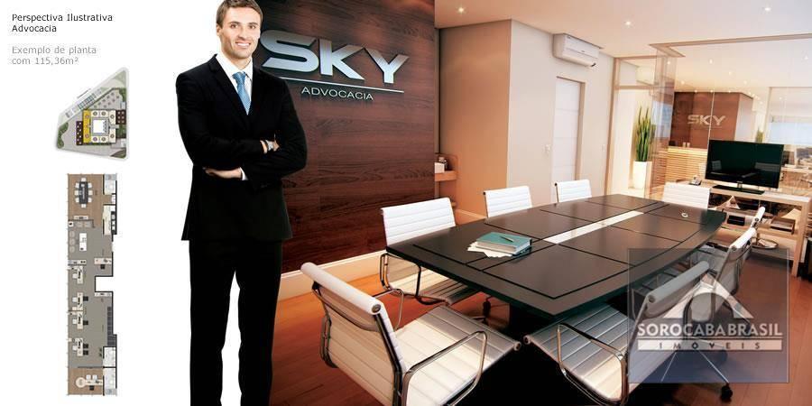 Sala para alugar, 51 m² por R$ 2.100,00/mês - Edifício Sky Trade Center - Sorocaba/SP