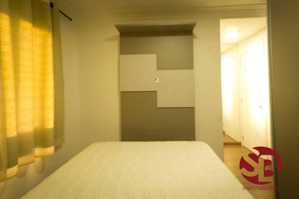 Apartamento 3 dormitórios, Mobiliado em Condomínio Clube Capão Raso, Curitiba.