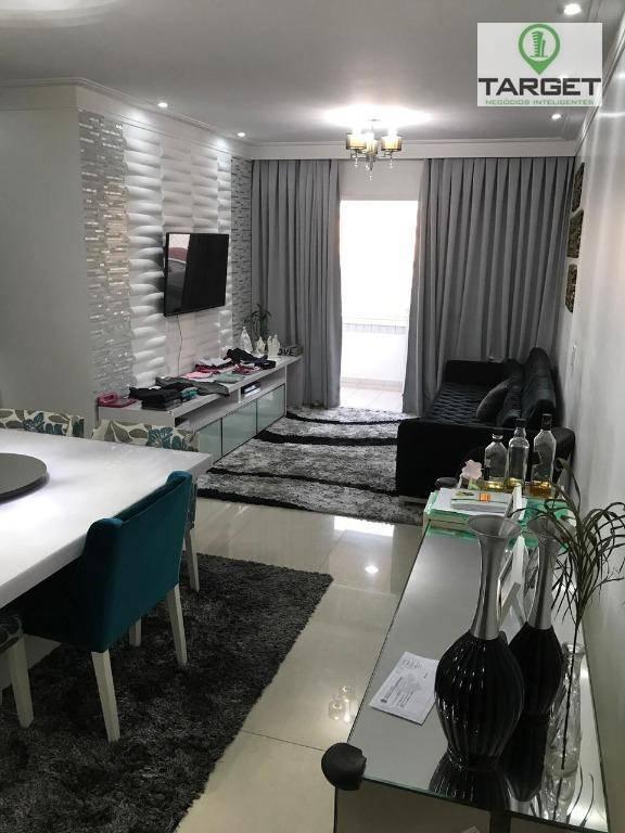 Apartamento com 3 dormitórios à venda, 99 m² por R$ 660.000,00 - Jardim Portugal - São Bernardo do Campo/SP
