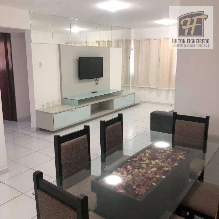 Alugo apartamento MOBILIADO em Intermares, 3 quartos, s 1 suite, coz, vara, sla, wc. Churrasqueira na cobertura. R$ 1500 com cond.
