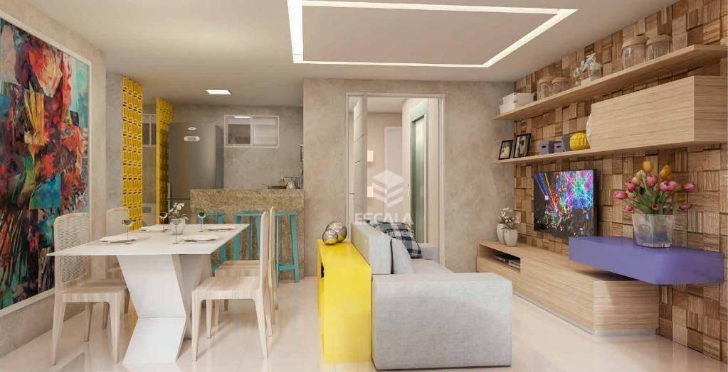 Apartamento com 3 quartos à venda, 75 m², área de lazer, 2 vagas, financia - cidade dos Funcionários - Fortaleza/CE