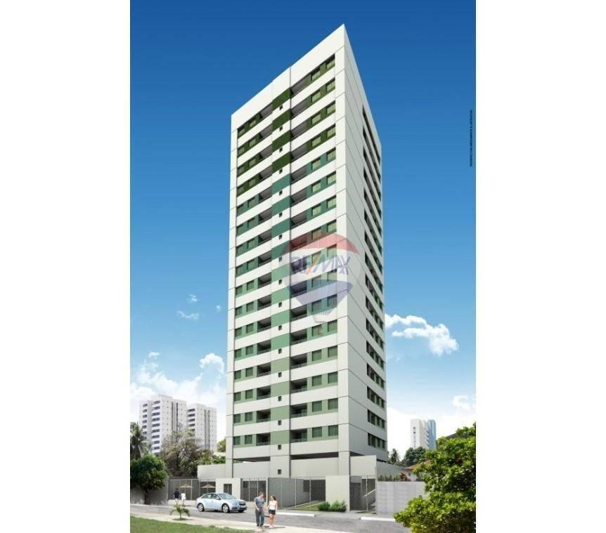 Ótimo apto. 57,50m², suíte, salão de festa, piscina e playgroud, à venda por R$ 325.000,00, bairro da Encruzilhada Recife PE.