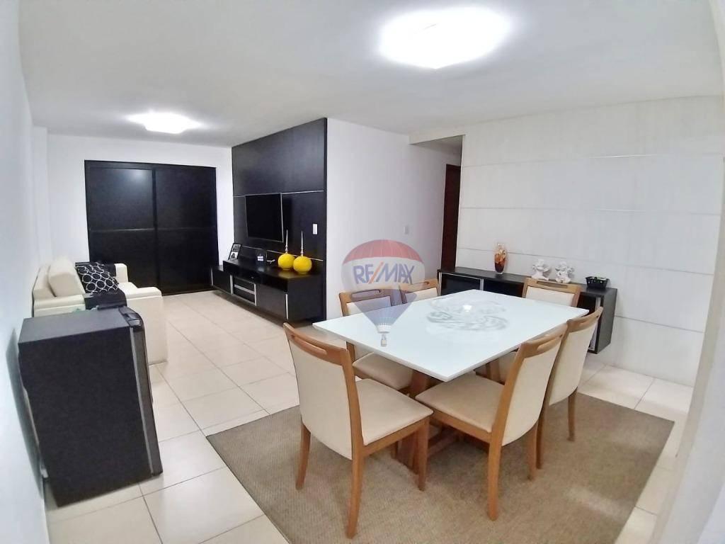 Apartamento 3 suítes, 113 m², 2 vagas, no melhor de Jatiúca.