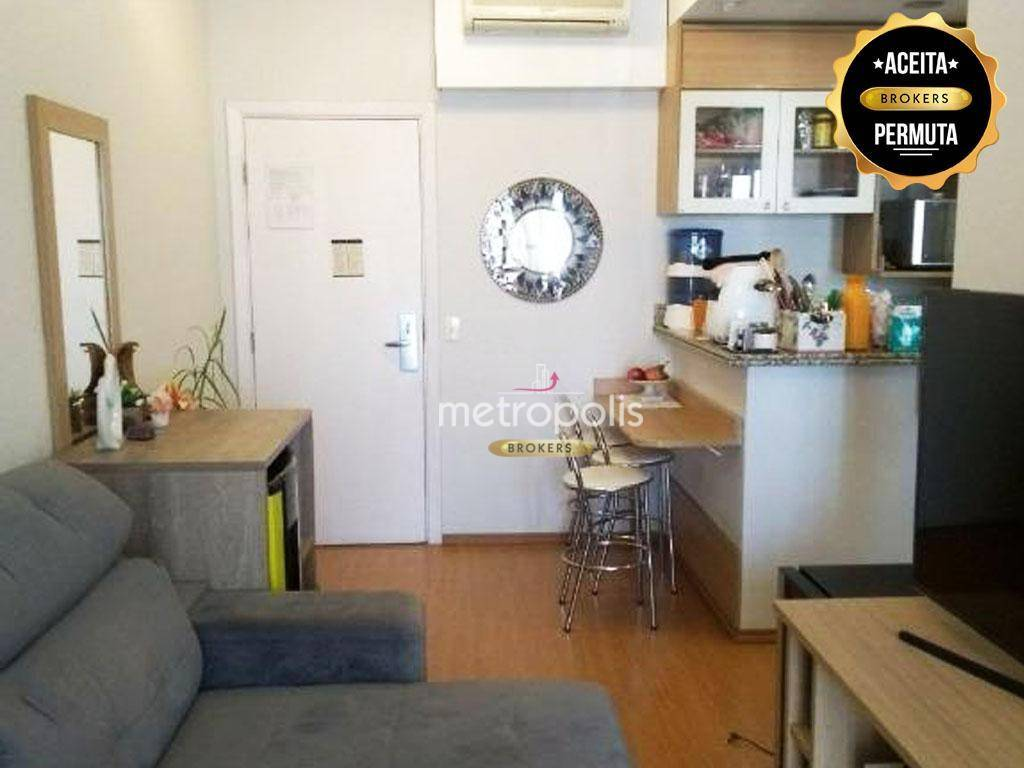 Flat com 1 dormitório à venda, 38 m² por R$ 280.000,00 - Barcelona - São Caetano do Sul/SP