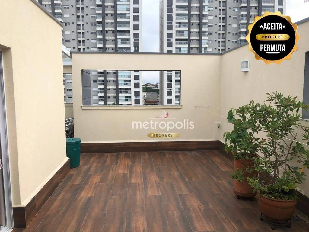 Cobertura com 3 dormitórios à venda, 131 m² por R$ 850.000,00 - Cerâmica - São Caetano do Sul/SP