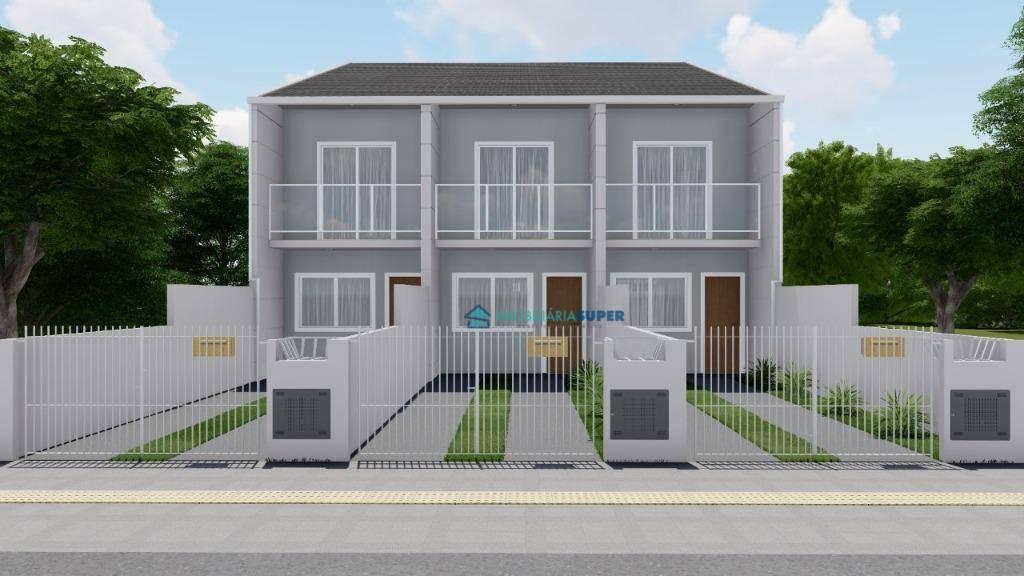 Sobrado com 2 dormitórios à venda, 72 m² por R$ 205.000,00 - Forquilhas - São José/SC