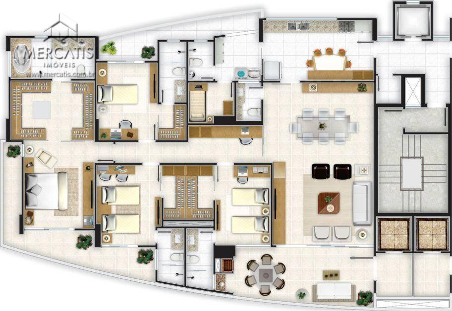 planta baixa | apto. 248,14 m²