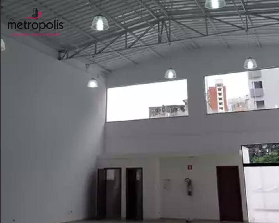Salão comercial para locação, Vila Guiomar, Santo André.