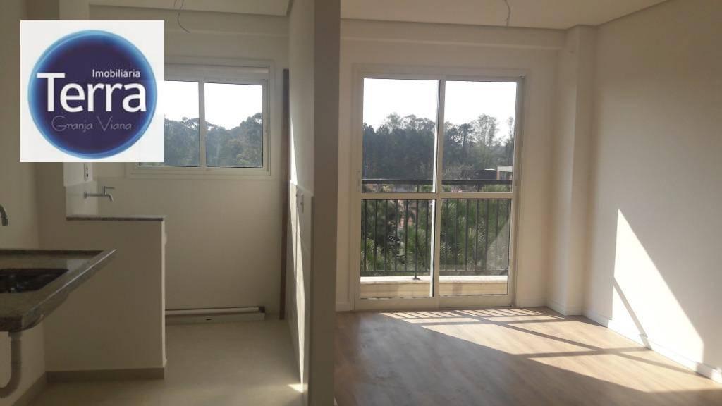 Apartamento com 1 dormitório à venda, 38 m² por R$ 320.000 - Address Granja Viana - Granja Viana