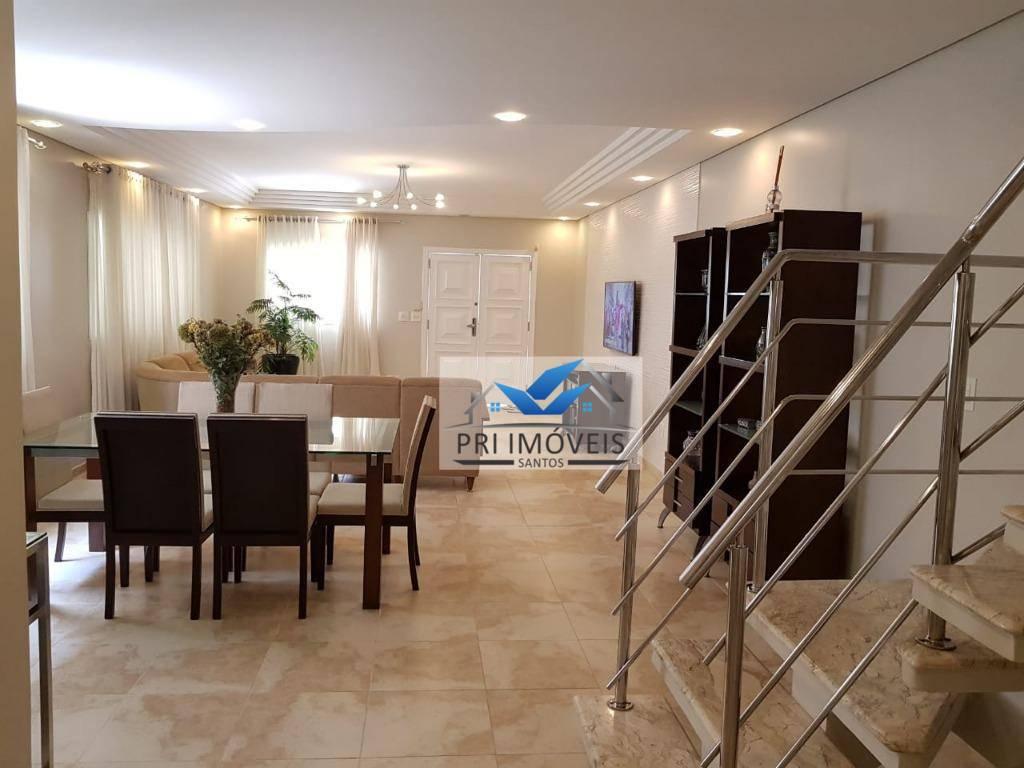 Casa à venda, 270 m² por R$ 1.980.000,00 - Aparecida - Santos/SP