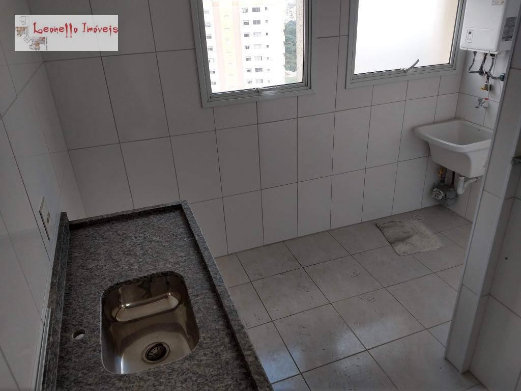 Apartamento com 2 dormitórios e 1 suíte para alugar, 63 m² - Vila Valparaíso - Santo André/SP