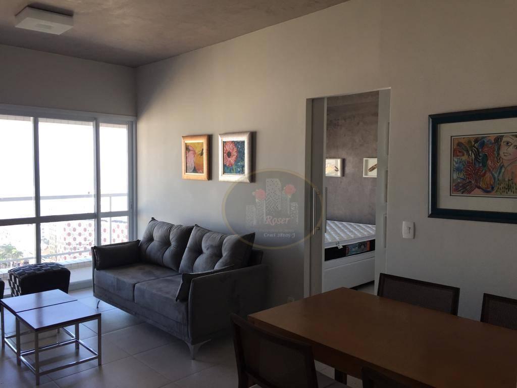 Studio com 1 dormitório à venda, 57 m² por R$ 590.000,00 - Gonzaga - Santos/SP