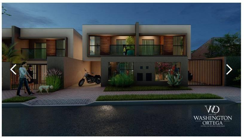 Sobrado com 3 dormitórios à venda, 124 m² por R$ 353.977 - Iguaçu - Araucária/PR