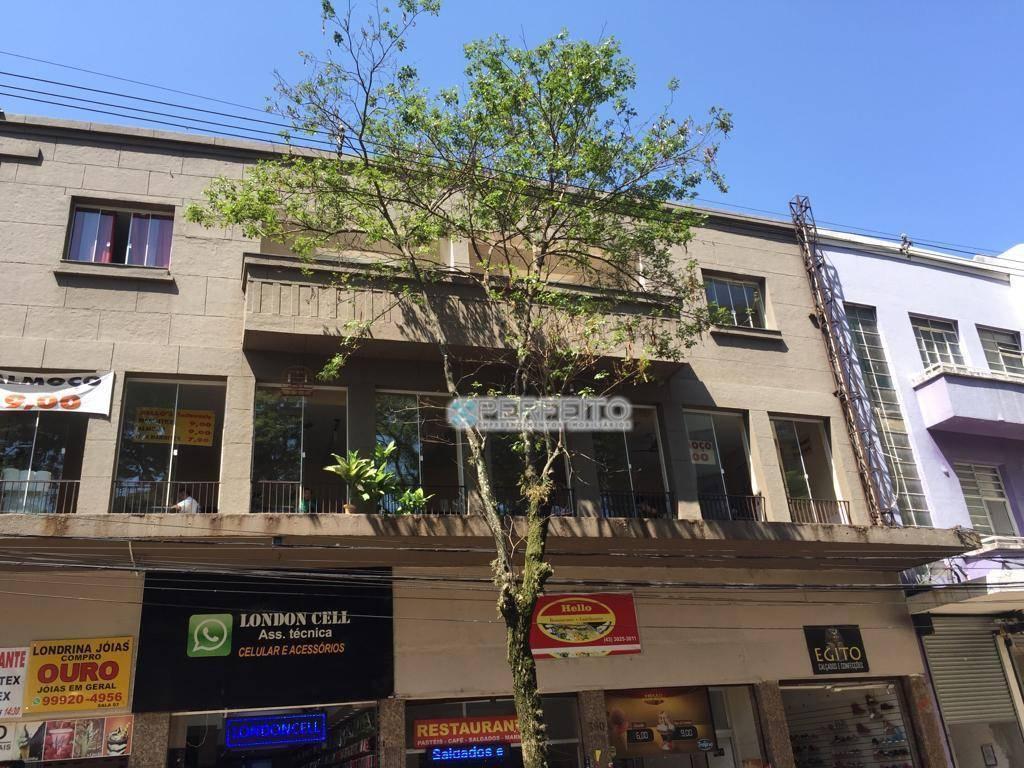 Sala Comercial para alugar no Centro de Londrina, 120 m² por R$ 1.800/mês