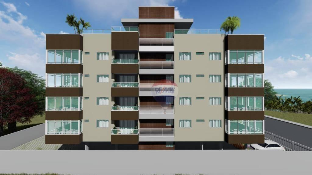 Flat com 3 dormitórios à venda, 84 m² por R$ 360.000 - Porto de Galinhas