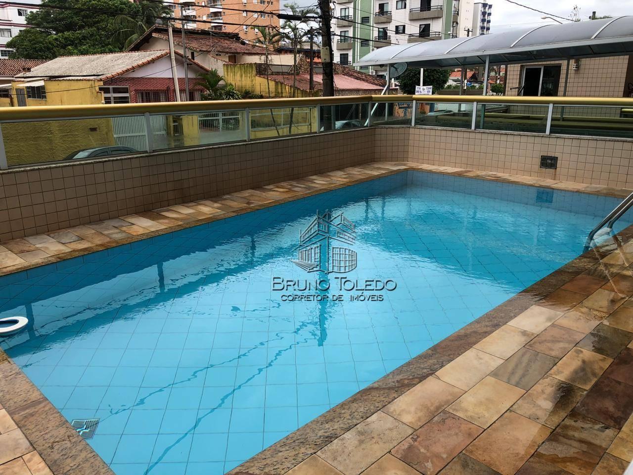 Apartamento com 2 dormitórios para alugar por R$ 1.650/mês - Guilhermina - Praia Grande/SP