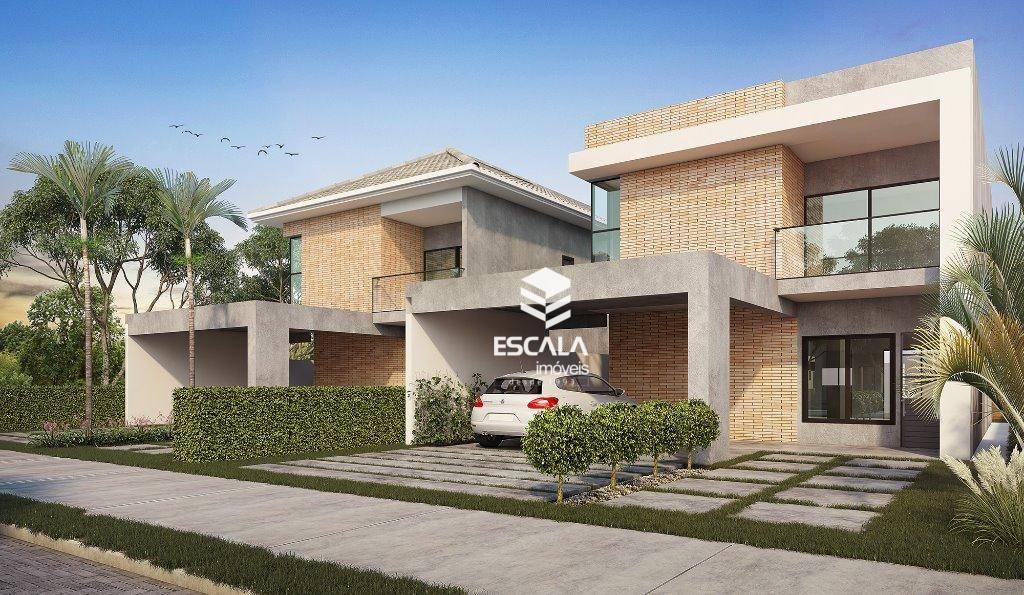 Casa duplex com 4 quartos à venda, 182 m², varanda gourmet, área de lazer, 3 e 4 vagas - Centro - Eusébio/CE