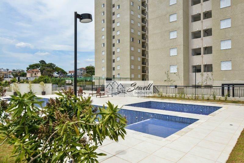 Apartamento Novo com 2 dormitórios à venda,lazer completo, 54 m² por R$ 260.000 - Utinga - Santo André/SP