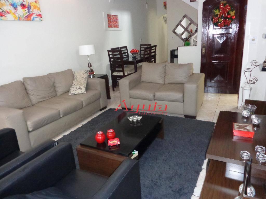 Sobrado residencial à venda, Parque Erasmo Assunção, Santo André - SO0556.