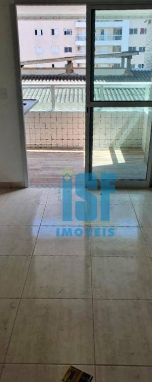 Apartamento com 2 dormitórios à venda, 60 m² por R$ 267.000 - Canto do Forte - Praia Grande/SP - AP24819.