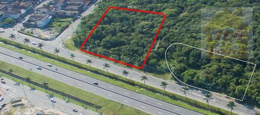 Terreno à venda, 5700 m² por R$ 13.200.000,00 - Mirim - Praia Grande/SP