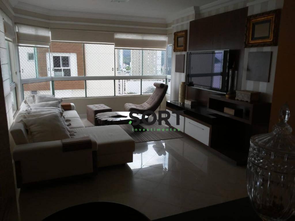 Apartamento Mobiliado, Promenade, 3 dorm.(1 suíte + 2 demis), 2 Vagas de Garagem, Barra Sul