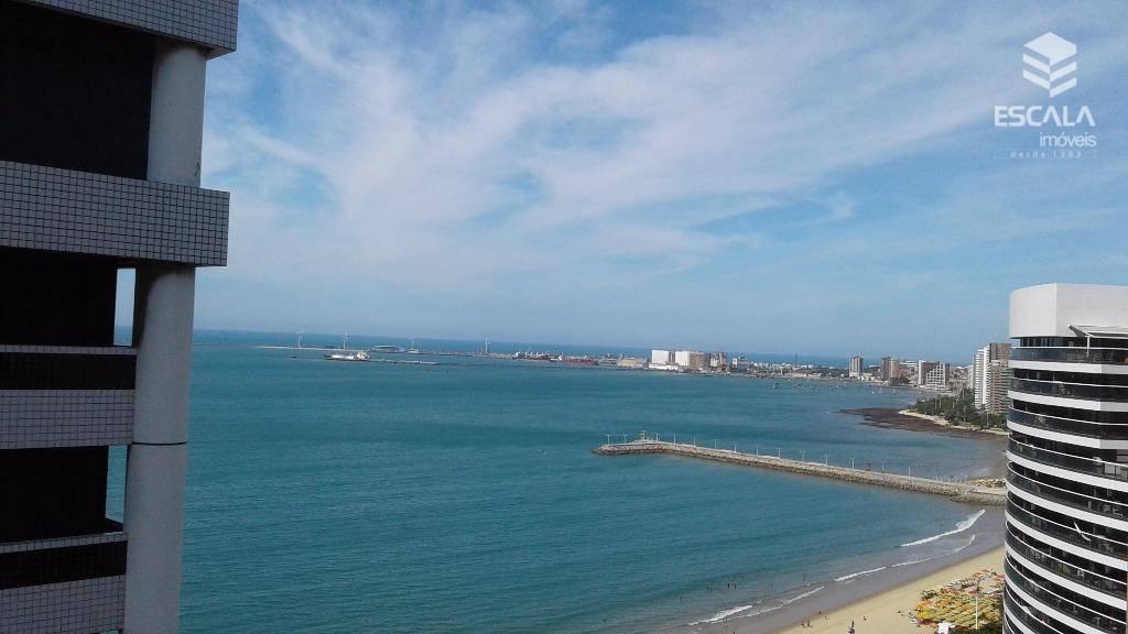 Flat residencial para locação, 2 Quartos. Internet e Tv a Cabo, Vista Mar.
