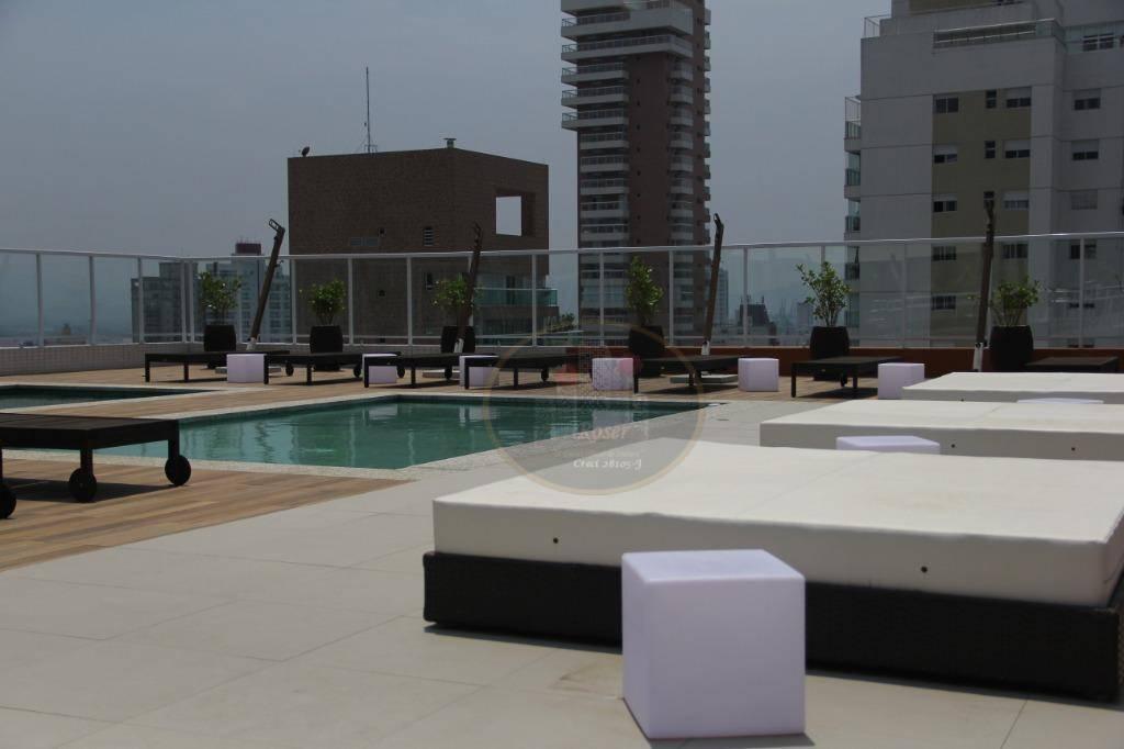 Apartamento com 1 dormitório para alugar, 70 m² por R$ 3.499,00/mês - Gonzaga - Santos/SP