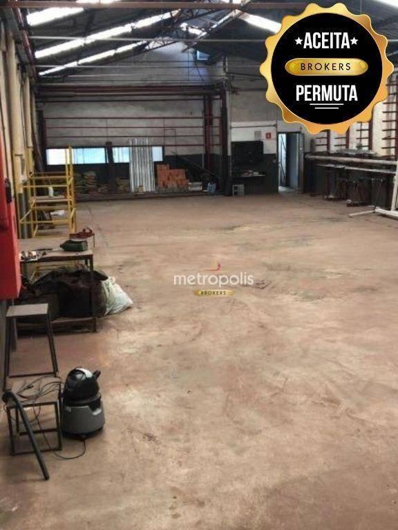 Galpão, 660 m² - venda por R$ 2.850.000,00 ou aluguel por R$ 15.000,00/mês - Jardim Andrea Demarchi - São Bernardo do Campo/SP