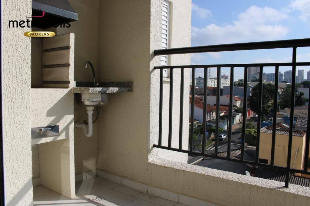 Apartamento com 3 dormitórios à venda, 89 m² por R$ 450.000 - Campestre - Santo André/SP
