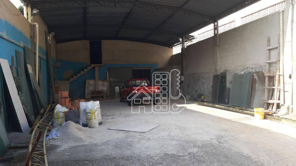 Galpão, 380 m² - venda por R$ 800.000,00 ou aluguel por R$ 3.800,00/mês - Fonseca - Niterói/RJ