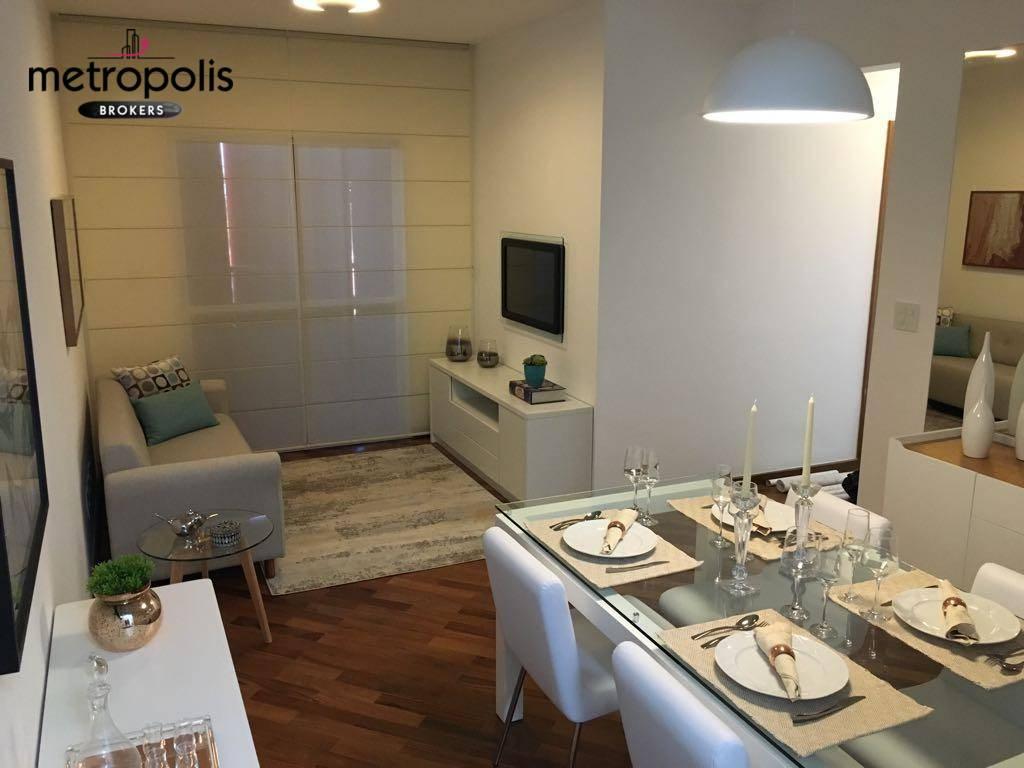 Apartamento residencial à venda, Vila Alzira, Santo André - AP0947.