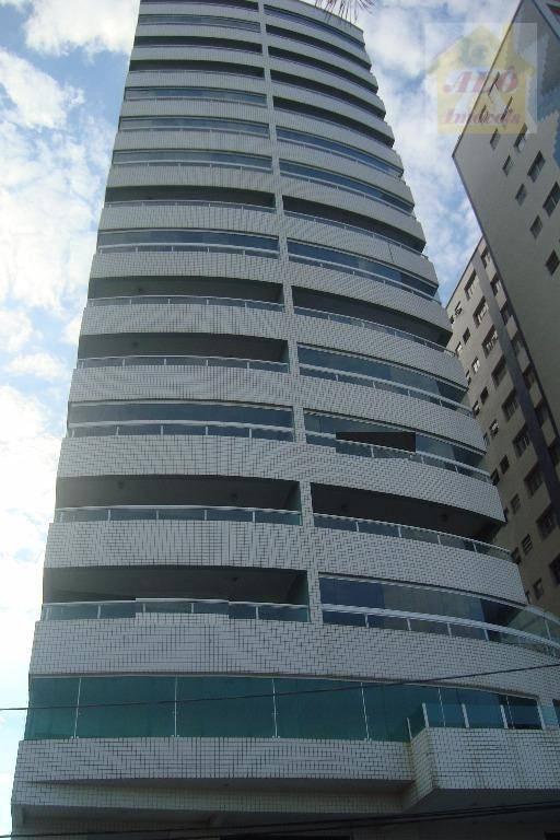 Apartamento com 4 dormitórios à venda, 145 m² por R$ 885.000,00 - Vila Guilhermina - Praia Grande/SP