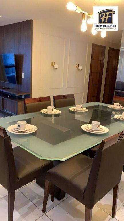 Alugo apto mobiliado em Manaíra  c 3 qtos, sendo 1 suites, wc, sla ampla, coz, 2 Vagas. Área de Lazer TOP por R$ 4500 c cond incluso