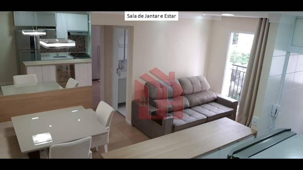 Lindo apartamento em Condomínio  com lazer completo, vaga de garagem fixa e coberta, 2 dormitórios, repleto de planejados