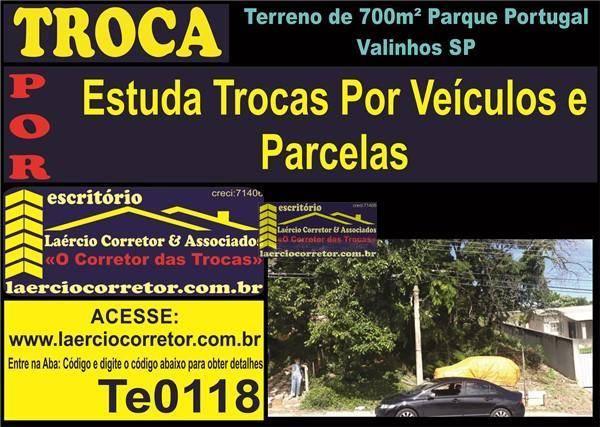 Terreno à venda, 709m² por R$ 270.000 - Parque Portugal - Valinhos/SP