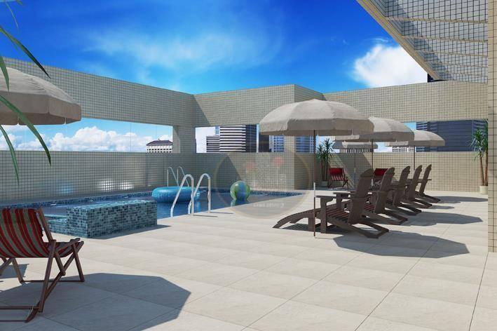 Apartamento com 2 dormitórios à venda, 81 m² por R$ 531.000 - Campo Grande - Santos/SP