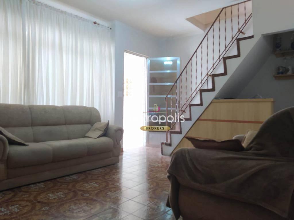 Sobrado com 3 dormitórios à venda, 154 m² por R$ 595.000,00 - Mauá - São Caetano do Sul/SP