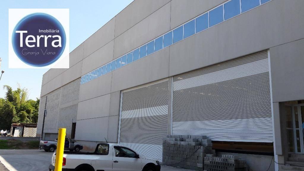 Galpão  industrial para locação, Km 28 da Rod. Raposo Tavares, Granja Viana.