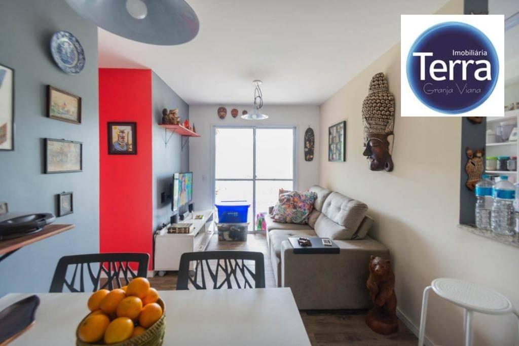 Apartamento com 3 dormitórios à venda, 69 m² por R$ 350.000 - Terraço Darte - Granja Viana