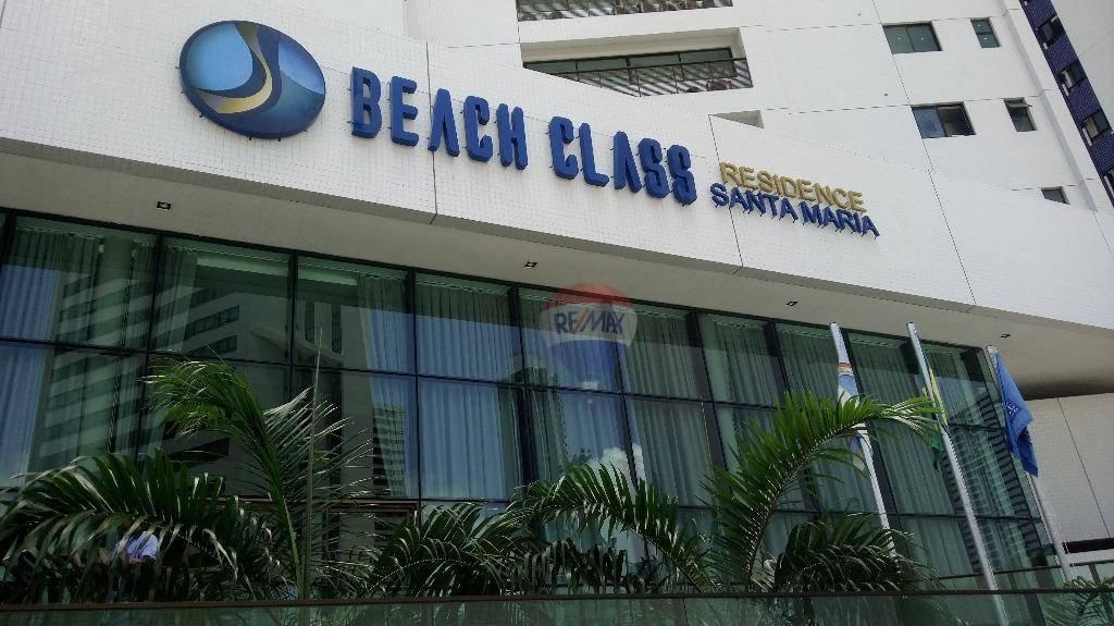 Flat com 1 dormitório para alugar, 34 m² por R$ 2.200/mês - Boa Viagem - Recife/PE