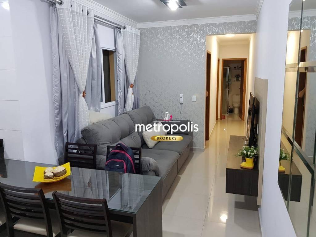 Apartamento com 2 dormitórios à venda, 51 m² por R$ 270.000,00 - Vila Príncipe de Gales - Santo André/SP