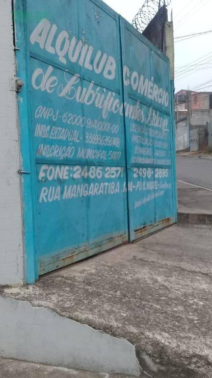 Galpão à venda, 220 m² por R$ 850.000 e para alugar R$ 3.500,00 + IPTU/mês - Parque São Miguel - Guarulhos/SP.