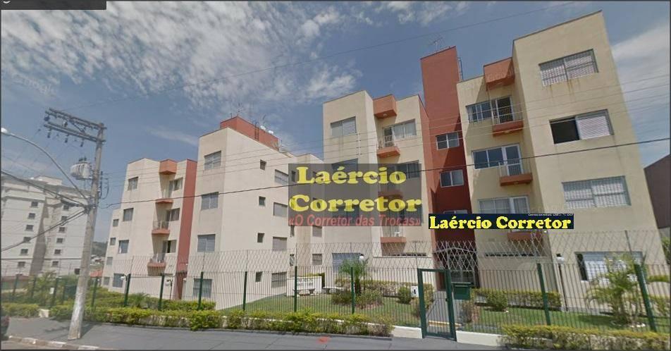 Apartamento em Valinhos SP, 2 dorms, 1 vaga, Sacada, 51m² - R$ 230mil - Troca Por Casa até R$ 300mil