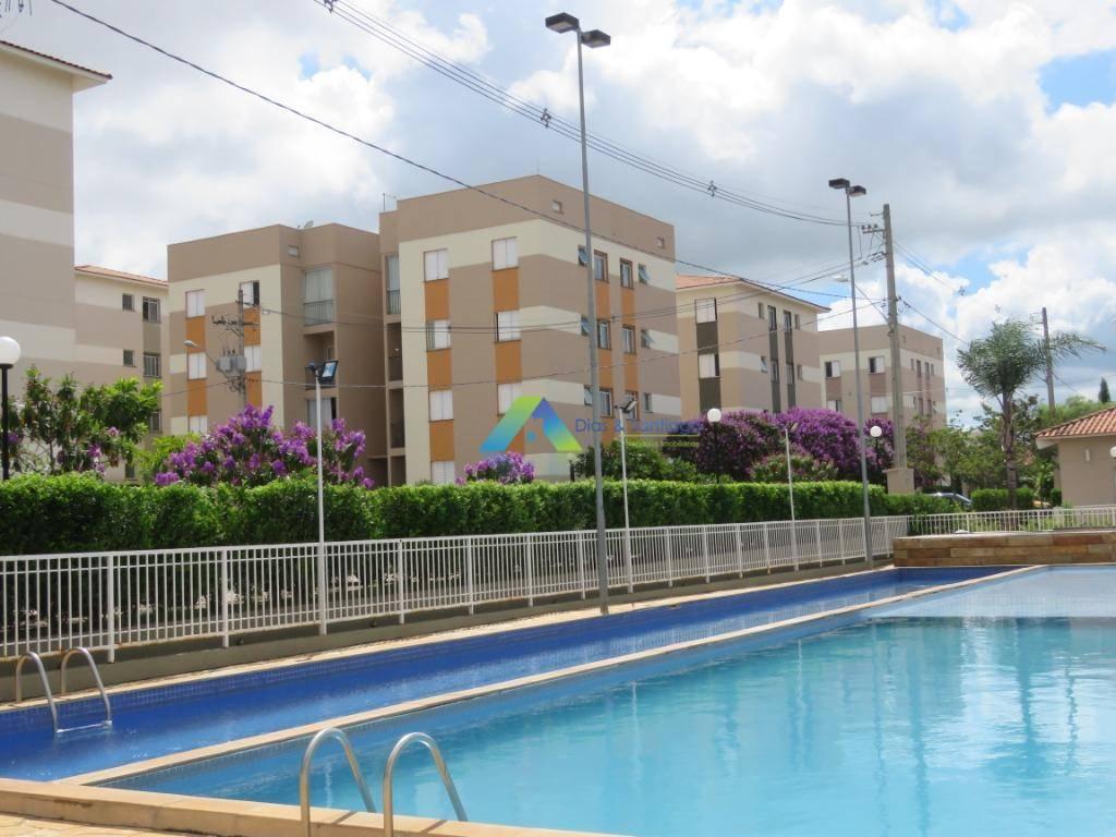 Apartamento Térreo com piscina com 2 dormitórios à venda, 49 m² por R$ 215.000 - Recanto dos Sonhos - Sumaré/SP