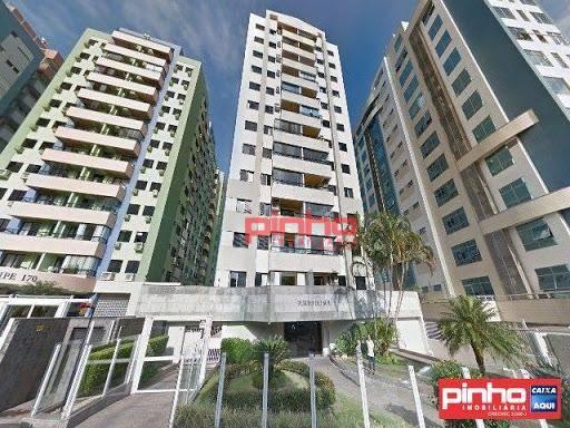 Apartamento com 3 dormitórios, 107 m² - venda por R$ 841.421,00 ou aluguel por R$ 2.600,00/mês - Centro - Florianópolis/SC