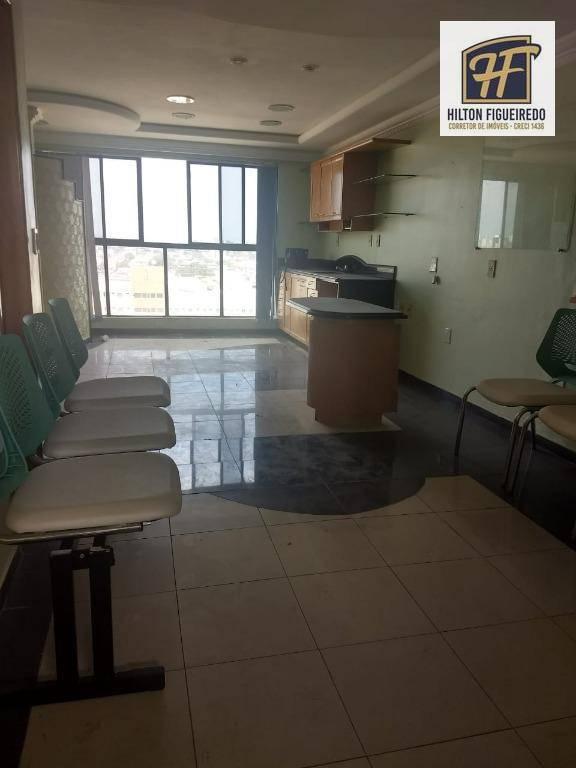 Sala à venda ou locação em empresarial, 36 m², perto de tudo, projetada por R$ 170.000 ou R$ 1.300 (aluguel) - Centro - João Pessoa/PB
