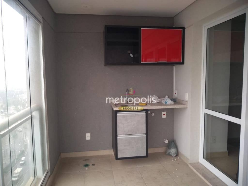 Flat com 1 dormitório para alugar, 42 m² por R$ 2.700,00/mês - Centro - São Bernardo do Campo/SP